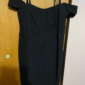 Torrid Off The Shoulder Black Dress.